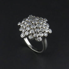 Load image into Gallery viewer, Cubic Zirconia Cluster Ring