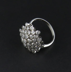Cubic Zirconia Cluster Ring