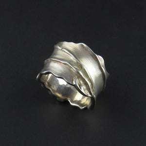 Wide Leaf Style Ring