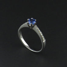 Load image into Gallery viewer, Ceylon Sapphire and Diamond Ring