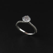 Load image into Gallery viewer, Stone Set Shoulder Diamond Ring