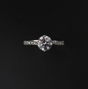 Stone Set Shoulder Diamond Ring