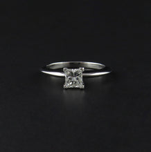 Load image into Gallery viewer, Princess Cut Diamond Solitaire Ring