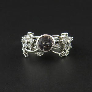 Morganite and Diamond Floral Ring