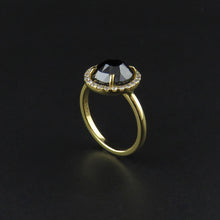 Load image into Gallery viewer, Rose Cut Black Diamond Ring