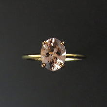 Load image into Gallery viewer, Oval Morganite Solitaire Ring