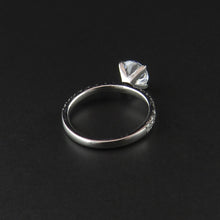 Load image into Gallery viewer, White Gold Four Claw Ring