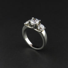Load image into Gallery viewer, Platinum Three Stone Ring