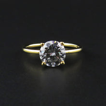 Load image into Gallery viewer, Yellow Gold Solitaire Ring