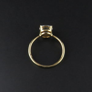 Yellow Gold Solitaire Ring