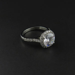 Platinum Cluster Ring