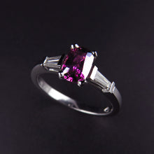 Load image into Gallery viewer, Purple Sapphire and Diamond Ring