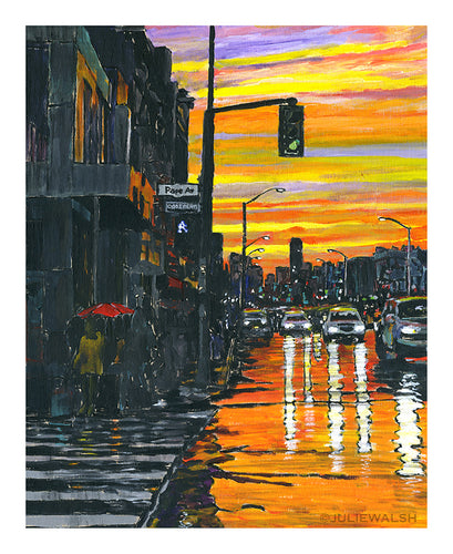 Sunset on Pape Art Print-Prints-WorkShopGallery