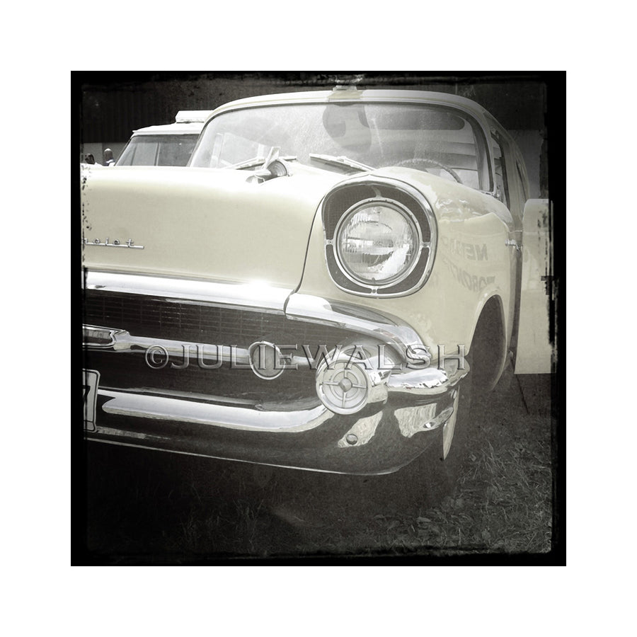 Old Yellow Chev Photo Panel-Photo-WorkShopGallery