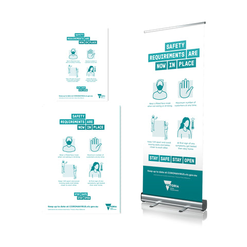 Four Safety Requirements - Pull Up Banner & Poster