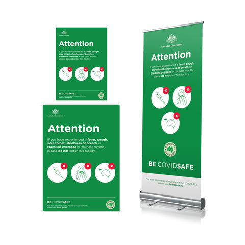 Do Not Enter If Sick - Pull Up Banner & Poster (Aus Gov)