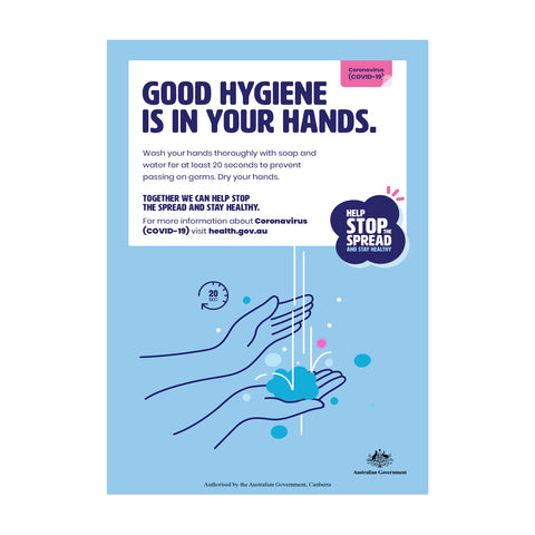 Good Hygiene Is In Your Hands Poster