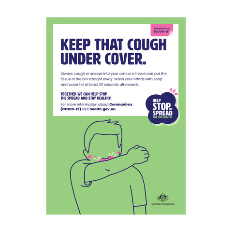 Cover That Cough Poster
