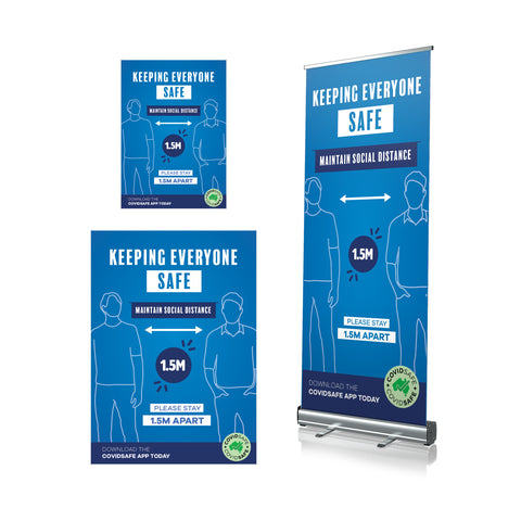 Keeping Everyone Safe - Pull Up Banner & Posters