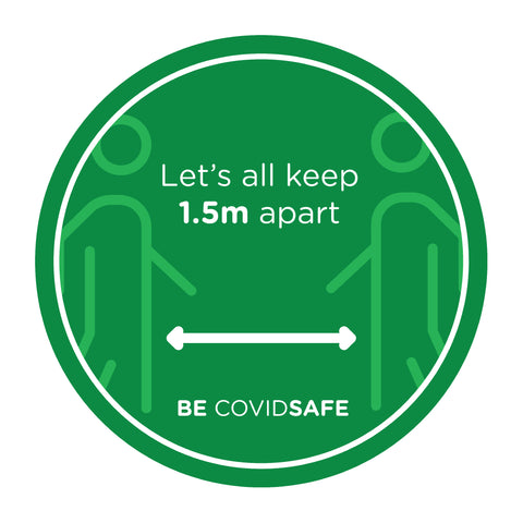 Covid safe - Circle Floor Sticker