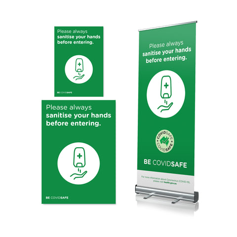 Sanitise Before Enter - Pull Up Banner & Posters