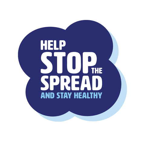 Help Stop The Spread - Floor Sticker