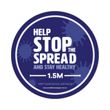 Help Stop The Spread Floor Sticker
