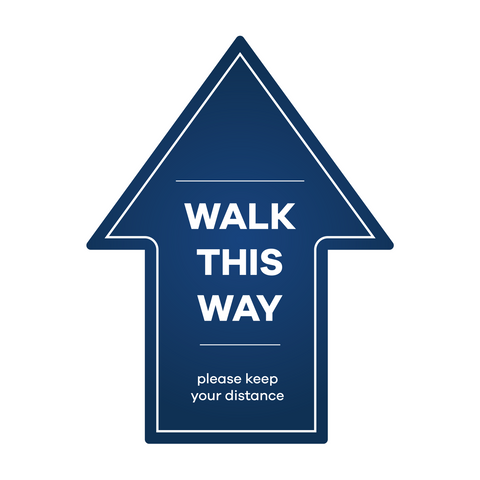 Walk This Way - Arrow Floor Sticker