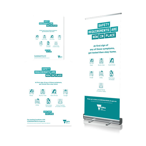 First Sign Of Symptoms - Pull Up Banner & Poster