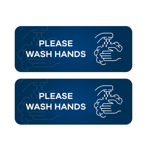 Please Wash Hands - Wall & Floor Stickers