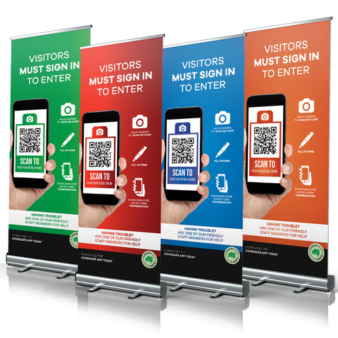 Visitor Sign In QR code - Pull Up Banners