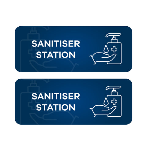 Sanitiser Station - Wall & Floor Stickers