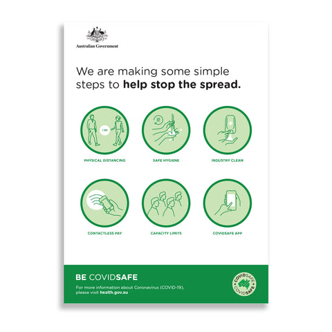 Simple Steps To Help Stop The Spread Poster