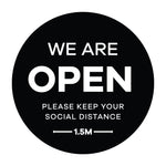 We Are Open Window Sticker
