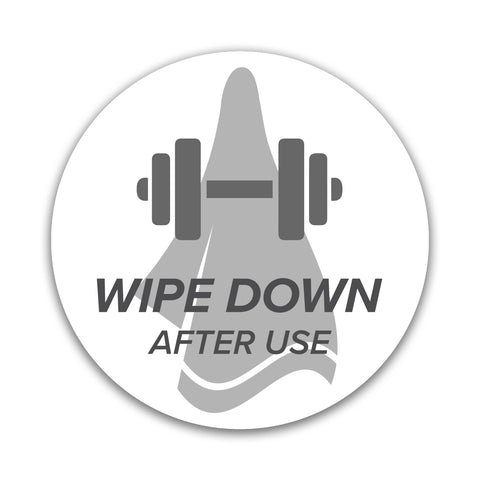 Wipe Gym Equipment Sticker