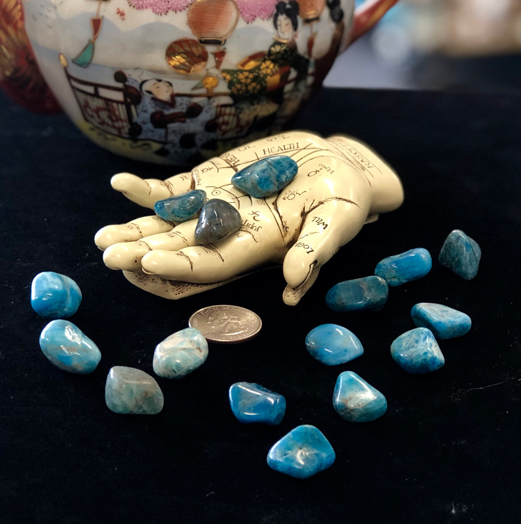 Blue Apatite Pocket Stone 1pc.