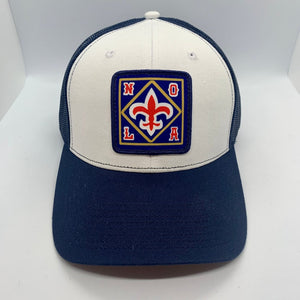 NOLA Mid Profile Trucker Navy/ White