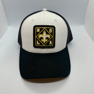 New Orleans Saints Mid Profile Trucker Hat White/Black