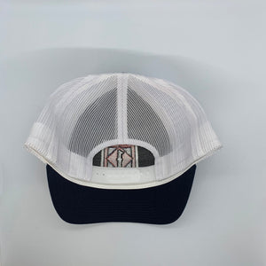 Zion Low Profile Structured Hat Navy/ White
