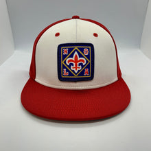 Load image into Gallery viewer, NOLA Pelicans Fitted Flatbill Hat Red White