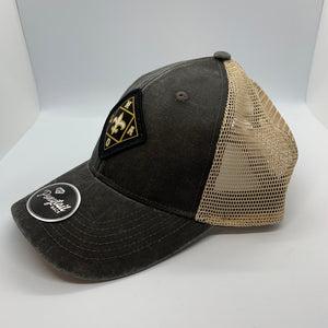 NOLA Women's Low Profile Structured Hat Black and Tan