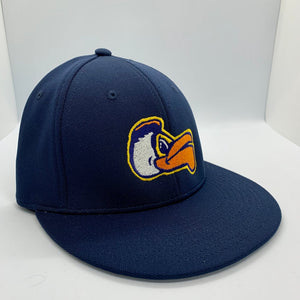 Pelicans Fitted Flat Bill Navy