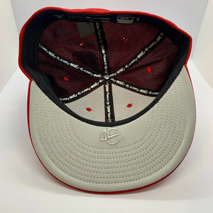 NOLA Fitted Flat Bill Red/ White
