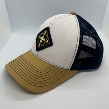 Load image into Gallery viewer, NOLA Black/White/Gold Low Profile Hat