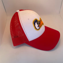 Load image into Gallery viewer, Pelicans Mid Profile Trucker Red/ White
