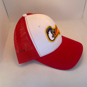 Pelicans Mid Profile Trucker Red/ White