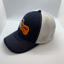 Load image into Gallery viewer, Pelicans Low Profile Trucker Navy/ White
