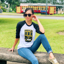 Load image into Gallery viewer, Unisex NOLA Streetcar 3/4 Sleeve Raglan
