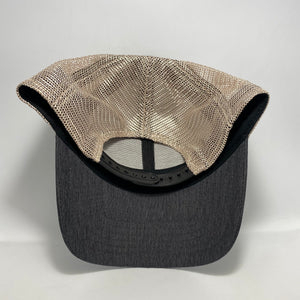 Unbreakable Low Profile Trucker Hat Black/ Tan