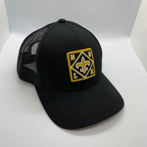 New Orleans Saints Low Profile Trucker Hat Black